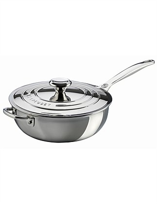 Le Creuset Signature 3Ply SS Chef pan NS 24cm