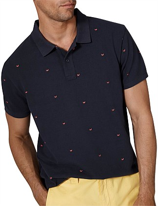 Embroidered Crab Polo