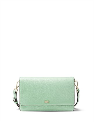 Pebbled Leather Convertible Crossbody