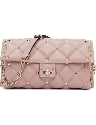 CANDYSTUD LEATHER CLUTCH