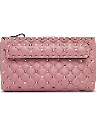 SPIKE LEATHER CLUTCH