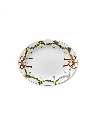 Royal Copenhagen Star Fluted Christmas Dish Oval 37cm