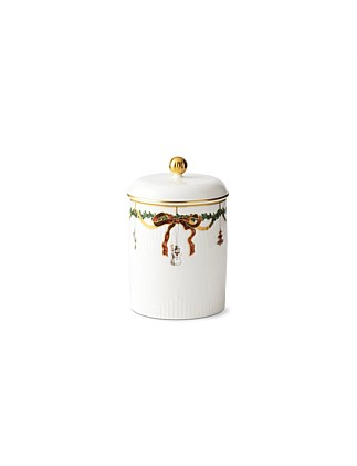 Royal Copenhagen Star Fluted Christmas Jar with Lid 16cm