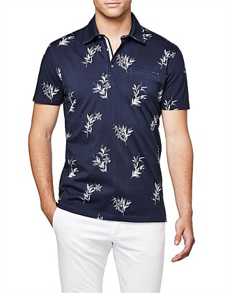 Addison Print Polo Shirt