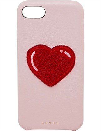 LEATHER HEART CHENILLE IPHONE 7/8 CASE