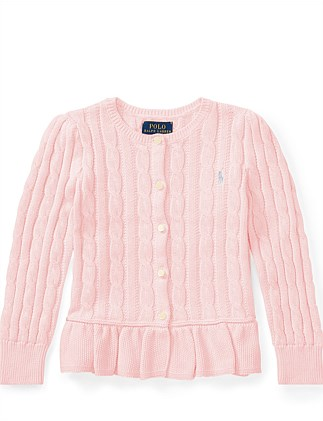 Cable Cotton Peplum Cardigan(2-7 Years). Polo Ralph Lauren 1b4fd40e1ddc