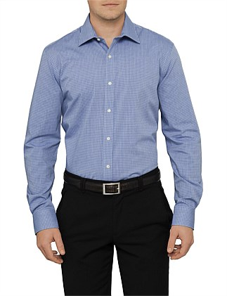 Fine Grid Check Shirt