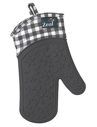 ZEAL Gingham Steam Stop Silicone Glove - Char