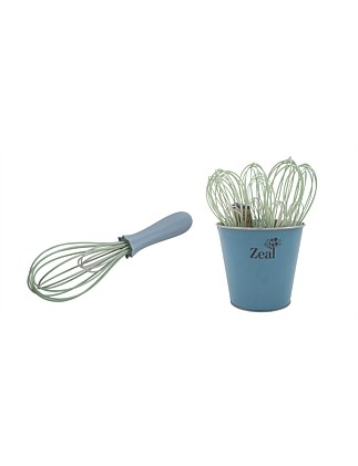 ZEAL Classic Silicone Whisk - Cream/Green