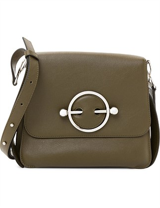 DISC LEATHER BAG