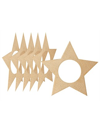 Cutie Christmas Star Gold 6pk Napkin Rings