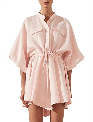 Brooke Balloon Sleeve Shirt Mini dress