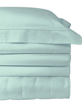 Triomphe Aqua Queen Bed Fitted Sheet 156x208