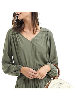 Gathered Shoulder Blouse