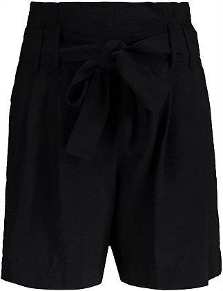 Soft Belted Pleated Shorts