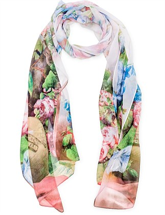 ALL OVER FLORAL SCARF