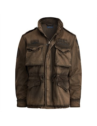 b19238daf051 Mens Cotton Twill Field Jacket On Sale. Polo Ralph Lauren