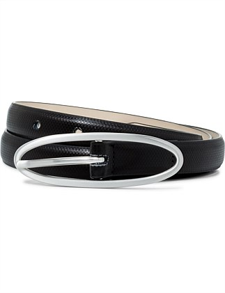19mm plain belt with lt gold round buckle