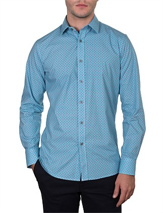 RAILWAY FLORAL FAN PRINT SLIM FIT SHIRT