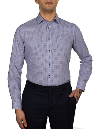 YORK MINI GEO PRINT SLIM FIT SHIRT