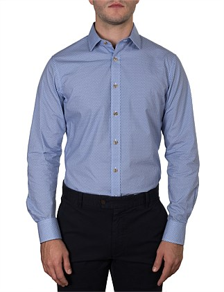 BIRKENHEAD LEAF OUTLINE PRINT SLIM FIT SHIRT