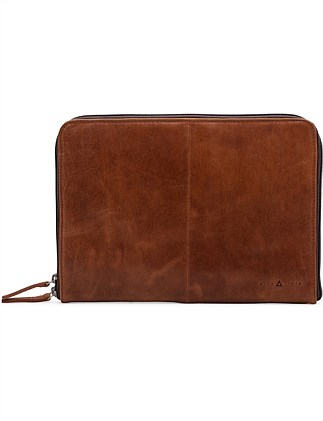 13' DOUBLE ZIP GUSSET FOLIO