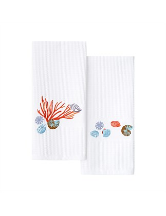 NAIADE SET OF 2 GUEST TOWELS