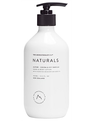 Naturals Hand & Body Lotion 400ml Alpine Cocoa & Icy Vanilla