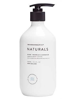 Naturals Hand & Body Lotion 400ml River Waterlily & Geranium