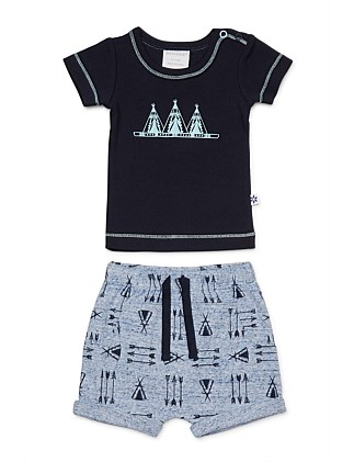 Teepee Tshirt & Short Set (0000-1Year)