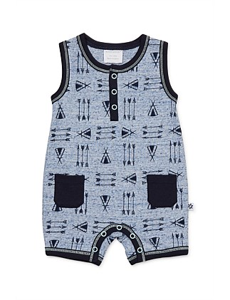 Teepee Sleeveless Romper (0000-1Year)