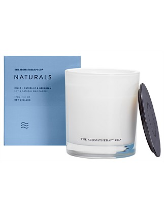 Naturals Candle 370g River Waterlily & Geranium