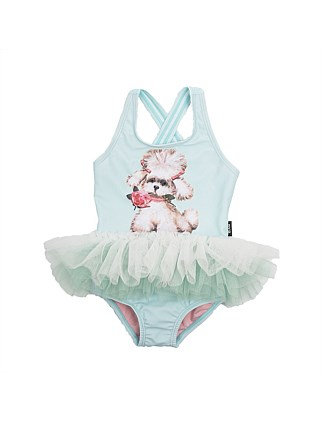 Snowflake Tulle One Piece Swimsuit (3Months-2Years)