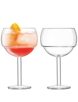 Mixologist Cocktail Balloon Glass Pair