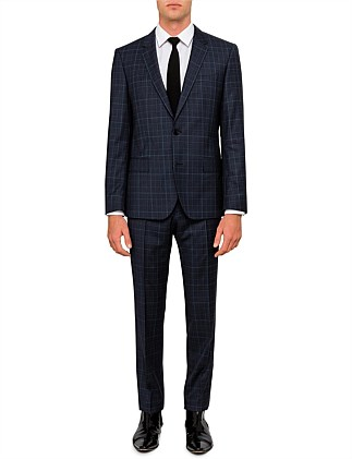 Henry Griffin Wool Textured Check Suit
