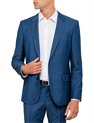 Henry Wool Textured Neat Suit Jacket