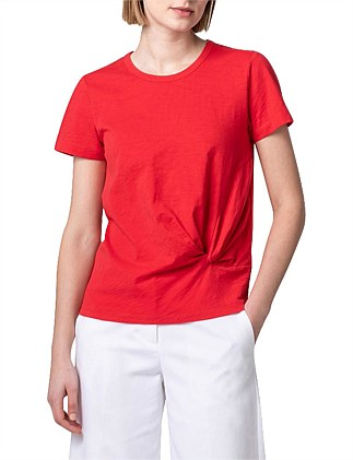 Organic Cotton Tuck Front T-Shirt
