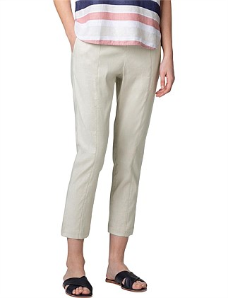 Stretch Linen Pull On Pant