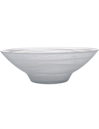 MW Marblesque Bowl 37cm White