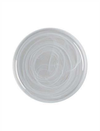 MW Marblesque Plate 34cm White