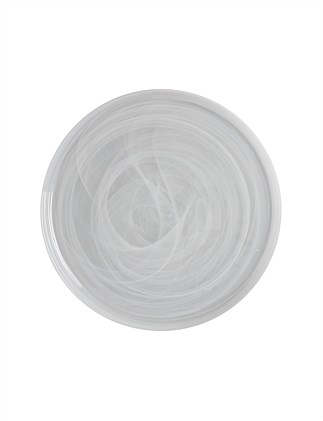 MW Marblesque Plate 39cm White