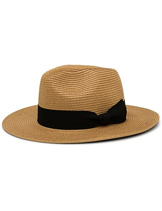 WIDE BRIM FEDORA WITH BAND