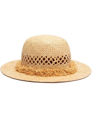 Raw Edge Straw Hat