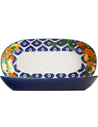 MW Positano Oblong Bowl 43x22cm Citrone Gift Boxed