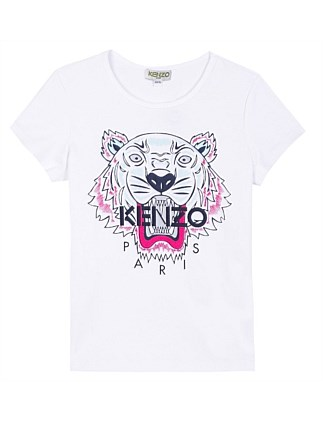 Girls Tiger Tee White
