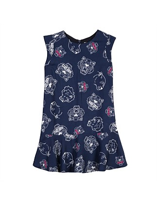 Girls Tiger Yardage Dress Navy