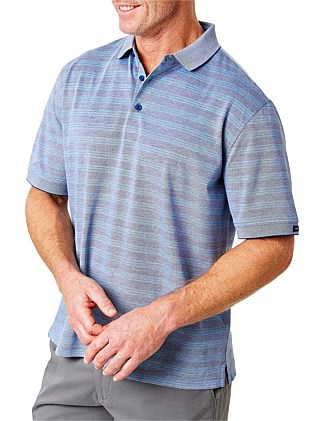 MERCERISED TONAL STRIPE POLO