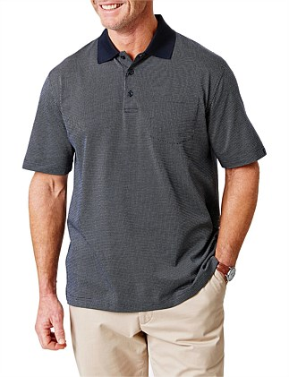 MERCERISED PATTERN POLO