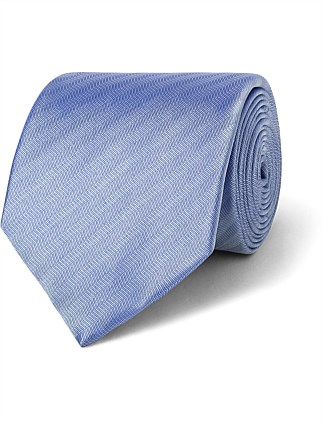 Blue Herringbone Stripe VH Poly Tie