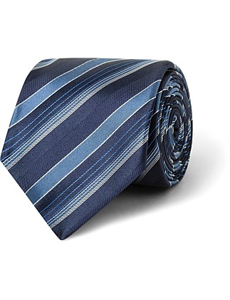 Navy & Blue Stripe VH Poly Tie